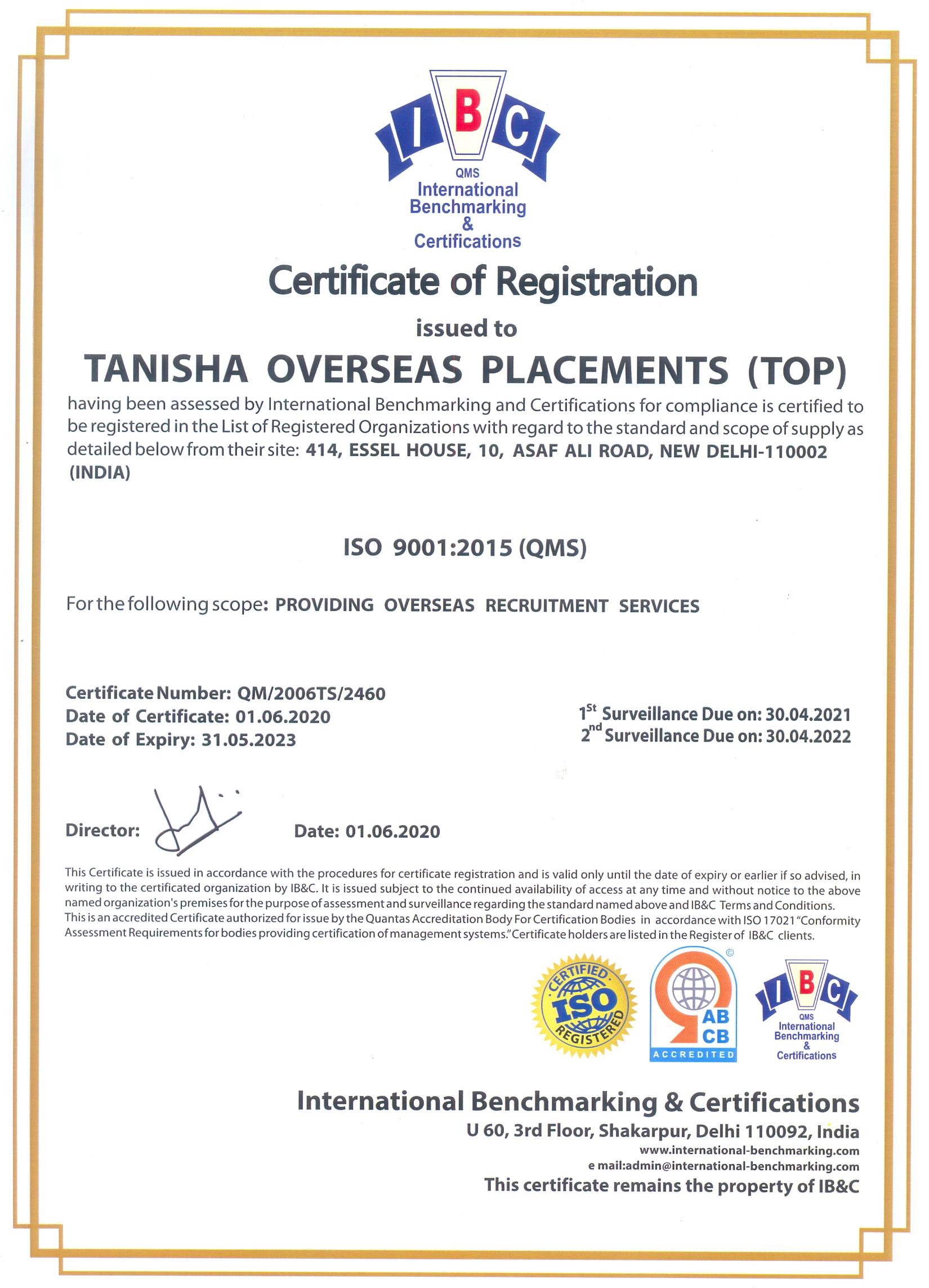 Tanisha overseas home tanisha overseas placements iso 9001 2015 xflitez Images